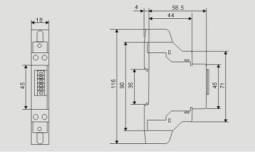 单相导轨式电能表